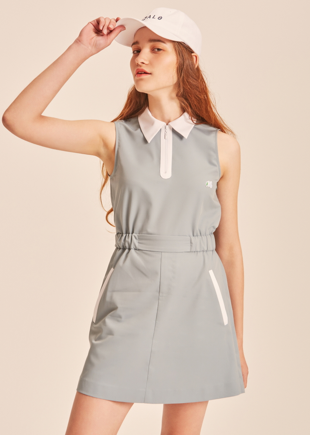 Kate mint waist band dress