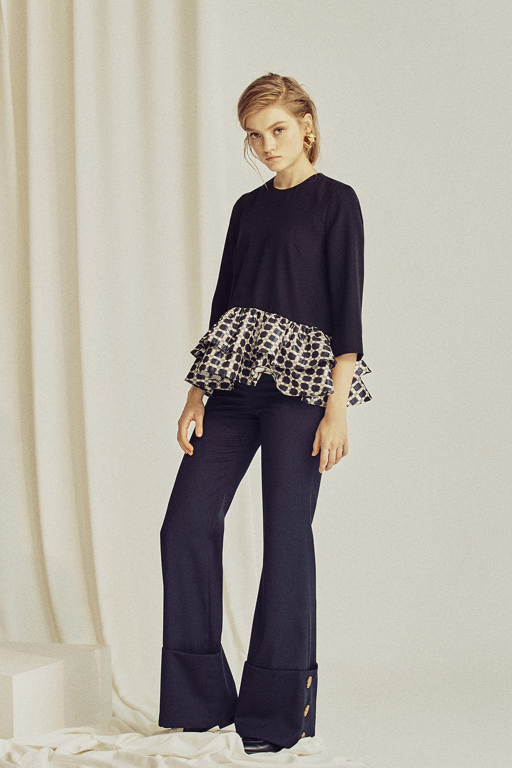 Justine button cuffed pants