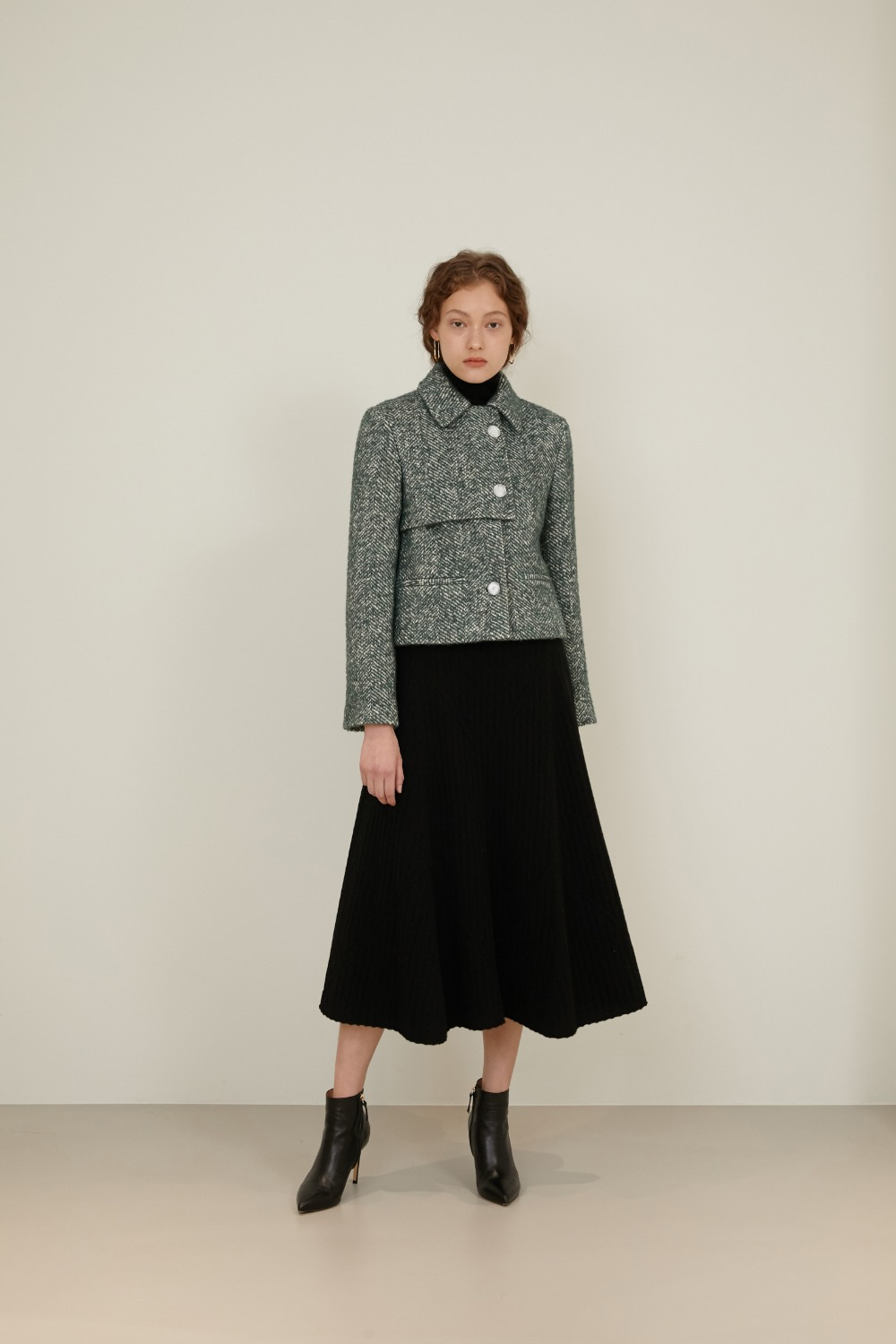 [2차리오더] Polina Cropped Wool Alpaca Jacket